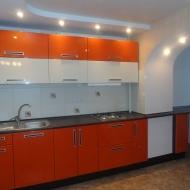 "Кухня ""Анастасия"",  цвет -оранжевый, белый."