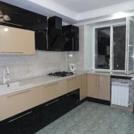 """Кухня """"Анастасия"""", цвет - черный, ваниль."""