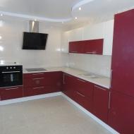 """Кухня """"Анастасия"""", цвет -вишня, белый."""
