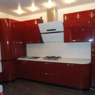 """Кухня """"Памела"""", цвет - вишневый."""
