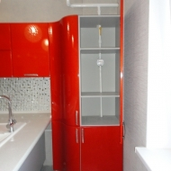"Кухня ""Анастасия"", цвет - оранжевый."